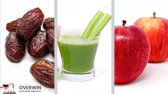 Dadel, appel en bleekselderij brengen de bijnieren tot rust